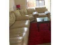 Corner leather sofa, very comfortable. Immaculate condition.