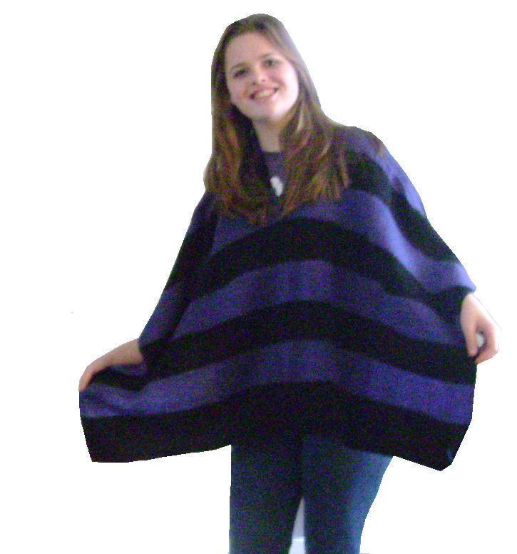 Easy Knit Poncho Shrug Ruana Afghan Knitting Machine Patterns On