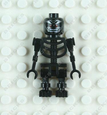 LEGO BLACK SKELETON WARRIOR minifigure minifig Halloween skull red eyes new