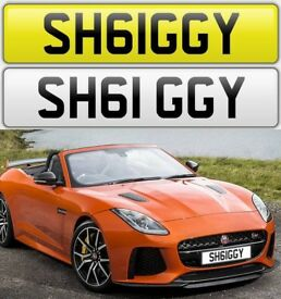 SHAGGY / GIGGY cherished private personalised number plate car reg. SH61GGY