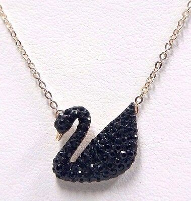 ICONIC BLACK SWAN SWAROVSKI CRYSTAL PENDANT ROSE GOLD 5204134
