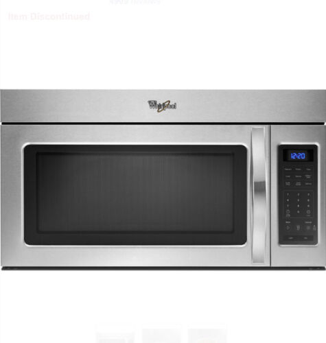 Whirlpool 1.7-cu ft Over-the-Range Microwave- Stainless Stee