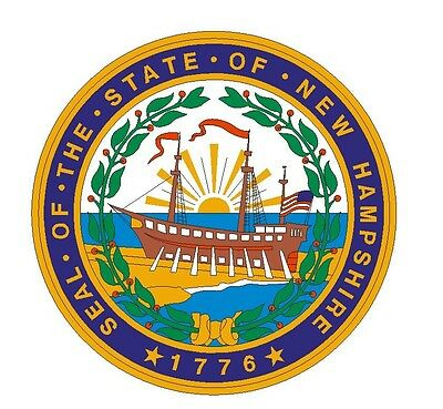 New Hampshire State Seal Sticker MADE IN THE USA R546 - New Hampshire State Seal