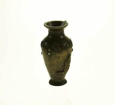 Antike Miniatur-Vase  Bronze Biedermeier um 1850 Chinesische Motive