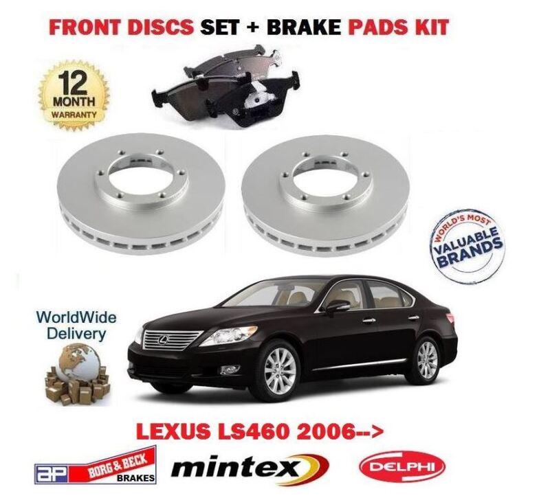 FOR LEXUS LS460 1UR-FSE 32v 2006-> NEW FRONT BRAKE DISCS SET + DISC PADS KIT