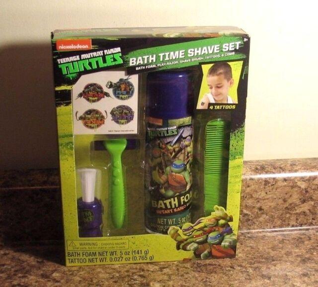teenage mutant ninja turtles kid bath time toy shave kit set 4