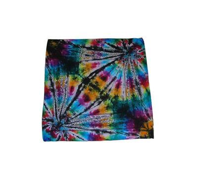 Tie Dye Bandana Adult Handmade Tye Die 100 Cotton