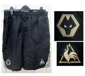 WOLVERHAMPTON WANDERERS BLACK SHORTS FOOTBALL SOCCER SZ XL 36