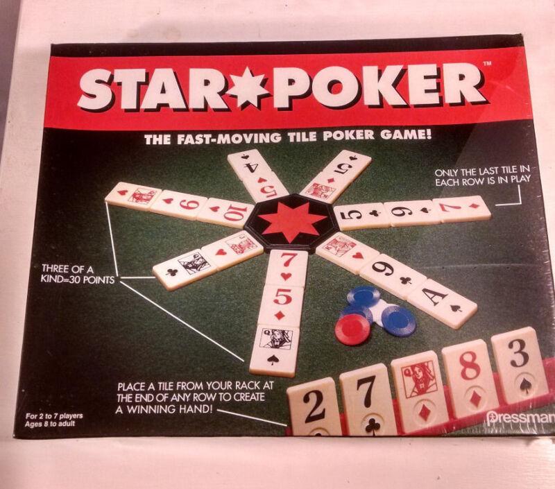 Star Poker board game New in sealed box family indoor tile poker game Rummikub