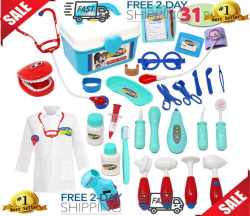JOYIN Kids Doctor Kit 31 Pieces Pretend-n-Play Dentist Medical Kit with Electron