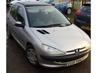 2001/51 Peugeot 206 HDI, 131k, 2.0 Turbo Diesel, MOT Till March 2018