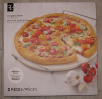 """15"""" Pizza Stone with Cooling Rack"""
