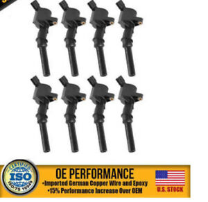 Ignition Coil Pack Set of 8 For Ford F250 F550 4.6 5.4L FD5 NEW