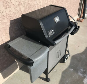 Weber genesis silver b natural gas bbq with cover