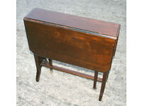 Small Folding Table Solid Wood with Brass Castors - Sutherland