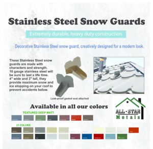 Snow Stop Snow Guard High Quality 16 Gauge Stainless Steel
