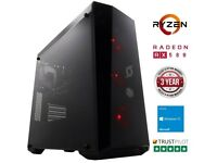 Stormforce Onyx Gaming PC (Black) (AMD Ryzen 5 1400, 8 GB RAM, 1 TB HDD AMD RX 580 8GB Graphics Card