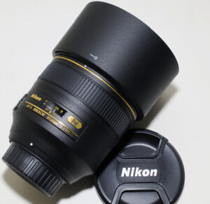 NIKON 85mm f1.4 G AF-S lens in PERFECT condition