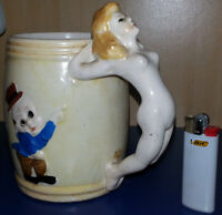1949 Nude Naked Girl Mug Vintage Antique