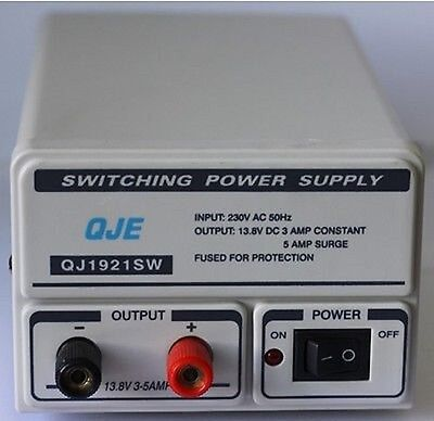 QJE QJ1921SW 3 5AMP SWITCH MODE POWER SUPPLY UNIT CB RADIO PSU