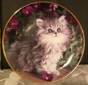 Franklin Mint Purrfection Collector Plate by Nancy Matthews