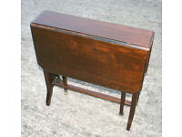 Edwardian ANTIQUE SUTHERLAND TABLE with two folding side leaves