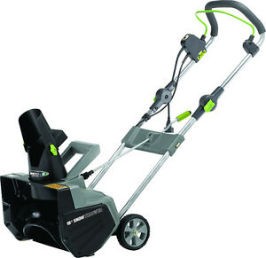 "EARTHWISE 18"" CORDED SNOW THROWER"