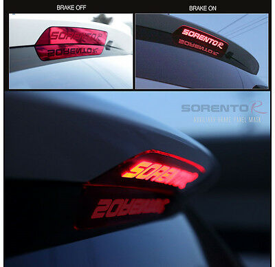 Rear Spoiler Auxiliary Stop Lamp Mask Moulding For 2013 2014+ Kia Sorento R