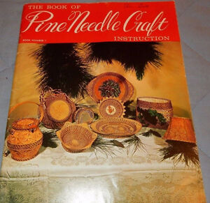 Pine needle craft book and the supplies that go with it.