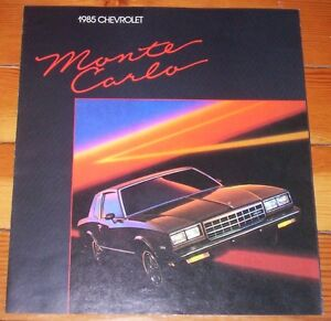 1985 chevrolet monte carlo sales brochure - original like new! Kitchener / Waterloo Kitchener Area image 1