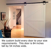 Custom barn doors. We make them fit your needs. From $170