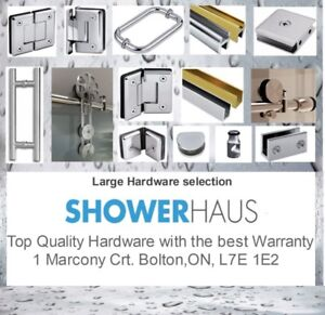 Home renovation – Bathroom  – Frameless  Glass Shower- Hardware