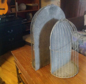 Antique metal half style bird cages