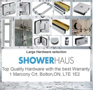 Home renovation – Bathroom – Frameless Glass Shower-Hardware