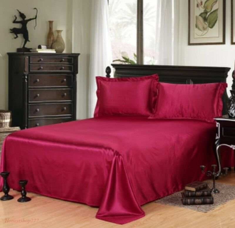 2018 Pure Silk Sheets Queen King Fashion All Size Bedding So