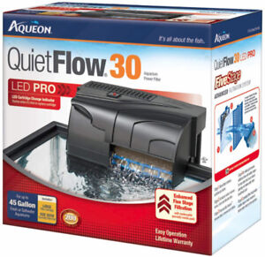 Brand New Aqueon QuietFlow  LED PRO30 Aquarium Power Filter