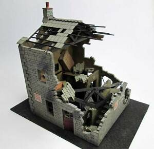 Ancorton Models Ruined House - Laser Cut Wood Kit OO Gauge OOFH2