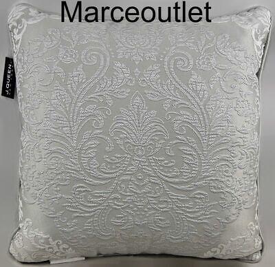 """J. Queen New York La Scala 20"""" x 20"""" Decorative Pillow Silver"""