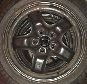 4 Original GM steel rims, 6 1/2J-16 ET41