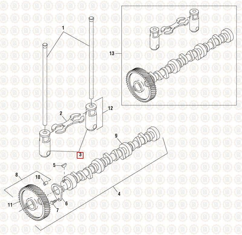 [SCHEMATICS_48ZD]  Tappet Roller Lifter for International DT466E. #490063 Ref# 1809570C5,  1809570C1 | eBay | International 466t Engine Coolant Diagram |  | eBay