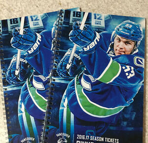 Vancouver Canucks 2016/17 Tickets - CENTRE ICE GREAT PRICES!!