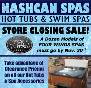 HotTub Store Closing - Save Thousands on Quality Four Winds Spas