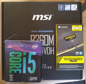 Combo Sealed Unopened - i5 8400, MSI B360 Pro VDH, Corsair 16GB