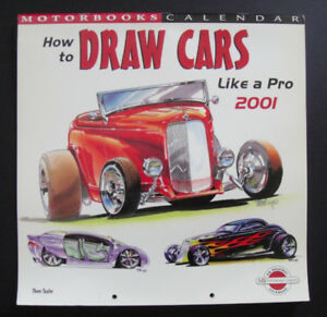 How To Draw Cars Like a Pro 2001 Calendar