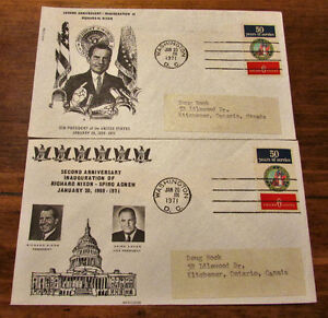 TWO 1971 RICHARD M. NIXON 2nd Anniversary Inauguration Covers