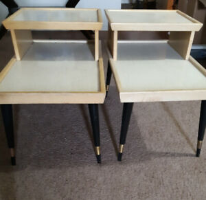 Mid Century Modern matching side tables