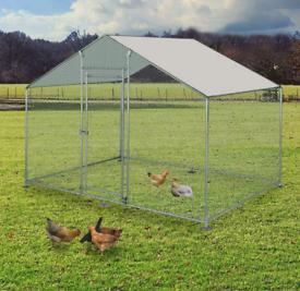 Large Walk In Chicken Hen Rabbit Run (fox proof) - Pet Dog Cage