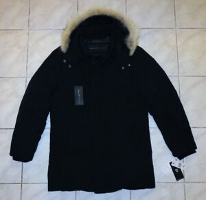 ANDREW MARC Down Filled Winter Coat Parka M NEW w/ Tags real fur
