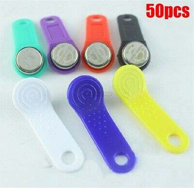 50pcs Ds1990a-f5 Tm Card Ibutton Tag With Wall-mounted Holder Hv