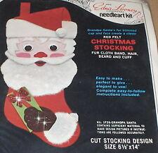 Edna Looney Santa Felt / Sequin Christmas Stocking Kit NIP ...
